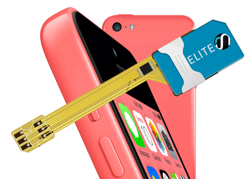 MAGICSIM Elite - iPhone 5C dual sim adapter - product